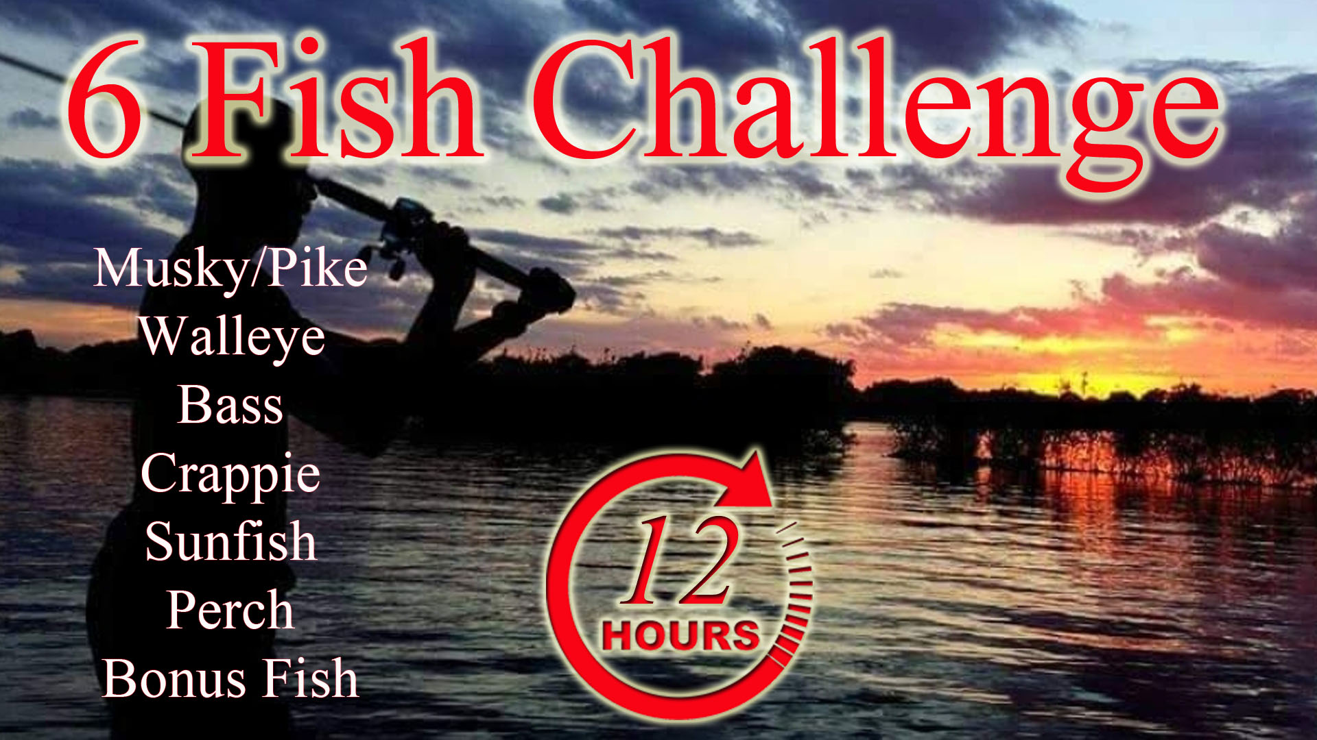 "The all new ""12 hours – 6 fish Challenge"" – by Mission Outdoors is almost here!"